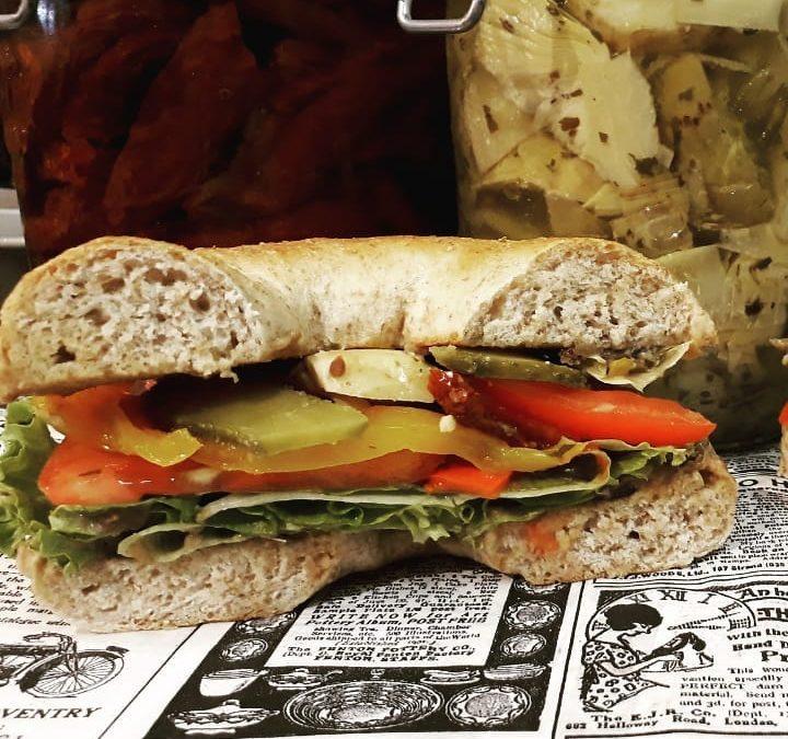 Bagel Story Aix, le bagel du mois, recette végétarien Las Vegan
